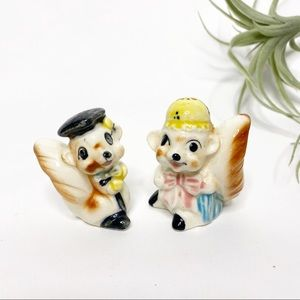 Vintage Japan Squirrel Salt & Pepper Shakers